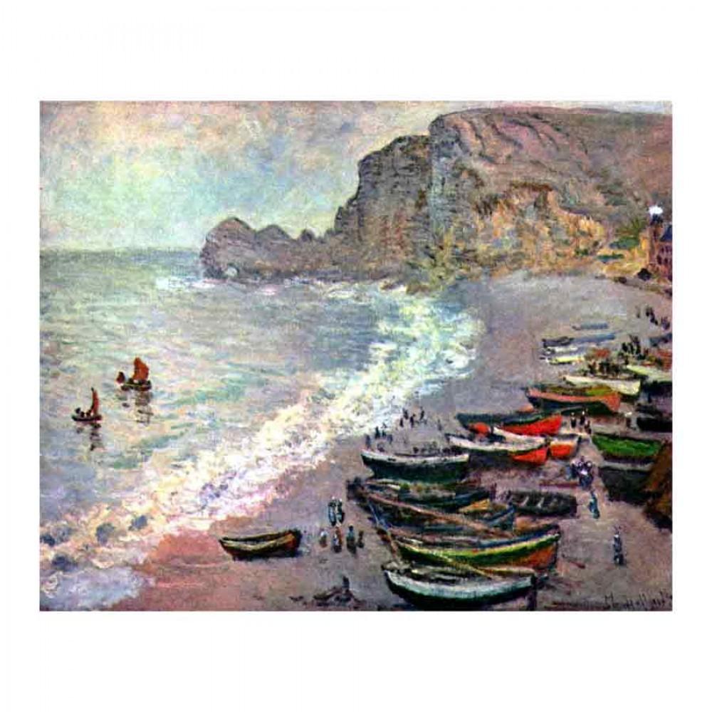 Etretat, der Strand und La Porte d'Amont