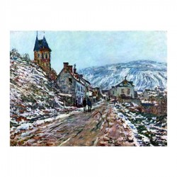 Road to Vétheuil in winter