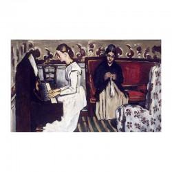 Η μητέρα του καλλιτέχνη ράβει και η αδελφή παίζει