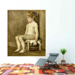 Nude girl seated