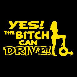 Bitch can drive