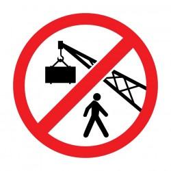 Απαγορεύεται η διέλευση κάτω από ανυψωμένα φορτία